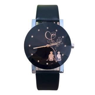черен дамски часовник