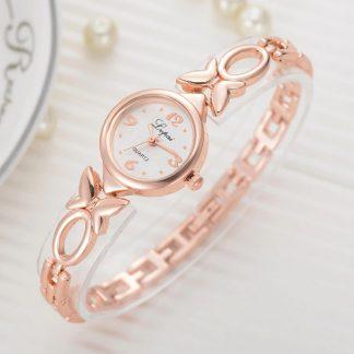 Златен Дамски Часовник с Кварцов Механизъм
