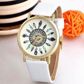 бял дамски часовник