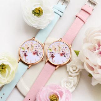дамски часовник с цветя