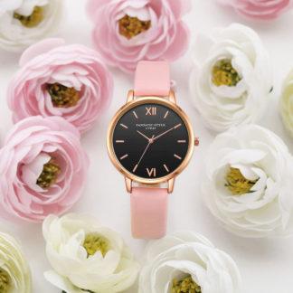 дамски часовник с кожена каишка