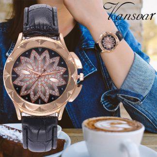 Уникален Дамски Часовник в Розово Злато и Кварцов Механизъм